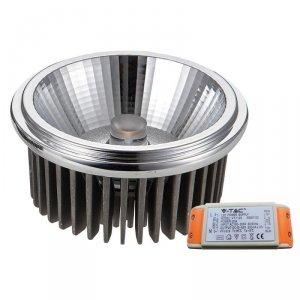 Żarówka LED V-TAC AR111 20W 230V 40st COB z zasilaczem VT-1120 3000K 1500lm