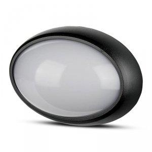 Plafon 12W V-TAC LED Owal Czarna IP54 VT-8010 6400K 840lm