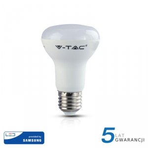 Żarówka LED V-TAC SAMSUNG CHIP 8W E27 R63 VT-263 3000K 570lm 5 Lat Gwarancji