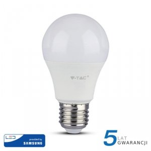 Żarówka LED V-TAC SAMSUNG CHIP 9W E27 A60 VT-210 4000K 806lm 5 Lat Gwarancji
