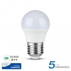 Żarówka LED V-TAC SAMSUNG CHIP 4.5W E27 A++ Kulka G45 VT-245 3000K 470lm 5 Lat Gwarancji