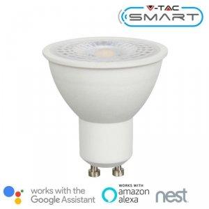 Żarówka LED V-TAC 4.5W GU10 110st SMART WiFi CCT WW+CW VT-5174 2700K-6400K 300lm