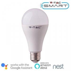 Żarówka LED V-TAC 15W E27 A60 SMART WiFi RGB+WW+CW VT-5117 RGB+2700K-6400K 1300lm