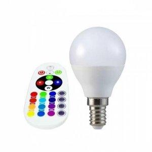 Żarówka LED V-TAC 3.5W E14 Kulka P45 Pilot VT-2234 3000K+RGB 320lm