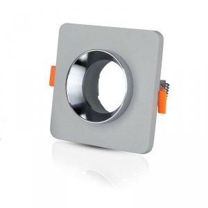 Oprawa Oczko V-TAC GIPS BETON GU10 Kwadrat Wpuszczany Szary/Chrom VT-862 5 Lat Gwarancji