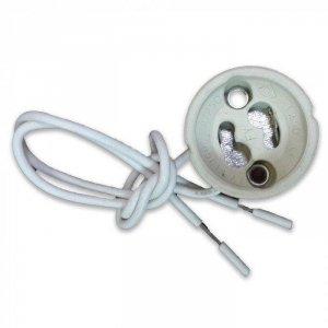 Oprawka Ceramiczna Gniazdo GU10 Przewód Siliconowy (Opak. 5szt) V-TAC VT-7888
