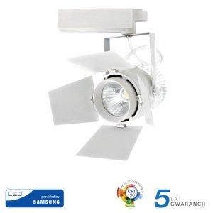 Oprawa 33W LED V-TAC Track Light SAMSUNG CHIP CRI90+ Biała VT-433 4000K 2640lm 5 Lat Gwarancji