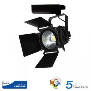 Oprawa 33W LED V-TAC Track Light SAMSUNG CHIP CRI90+ Czarna VT-433 4000K 2800lm 5 Lat Gwarancji