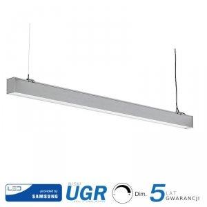 Oprawa V-TAC LED Linear SAMSUNG CHIP 40W Natynk/Zwieszana Do łączenia Srebrna 0-10V 120cm VT-7-43 4000K 3400lm 5 Lat Gwarancji