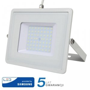 Projektor LED V-TAC 50W SAMSUNG CHIP Biały VT-50 6400K 4000lm 5 Lat Gwarancji