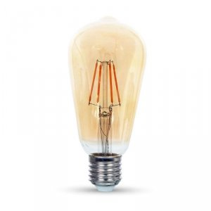 Żarówka LED V-TAC 8W E27 Filament Bursztyn ST64 VT-1968 2200K 700lm
