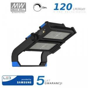 Projektor LED V-TAC 500W SAMSUNG CHIP Mean Well Driver Ściemnialny IP66 120st VT-503D 4000K 60000lm 5 Lat Gwarancji