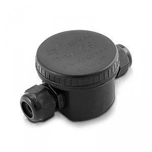 Puszka Złączka Mufa Hermetyczna Czarna 3Pin 24A AC:450V Średnica kabla 5-9mm IP66 V-TAC VT-881