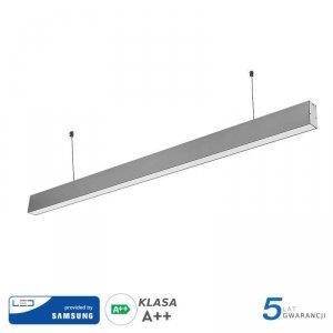 Oprawa V-TAC LED Linear SAMSUNG CHIP 40W Do łączenia Zwieszana Szara 120cm VT-7-40 6400K 3200lm 5 Lat Gwarancji