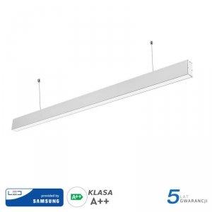 Oprawa V-TAC LED Linear SAMSUNG CHIP 40W Do łączenia Zwieszana Biała 120cm VT-7-40 6400K 3200lm 5 Lat Gwarancji