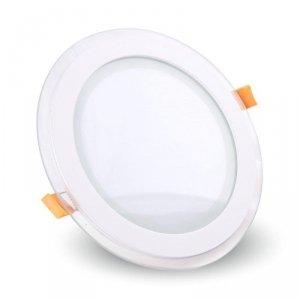 Panel LED V-TAC 18W LED Szkło Okrągły VT-1881G 4000K 1260lm