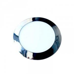 Panel LED Slim V-TAC 18W LED Chrom Okrągły VT-1807CH 6400K 1500lm