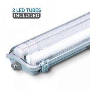 Oprawa Hermetyczna LED V-TAC PC/PC 2x120cm (2 x 18W) (Tuby LED w zestawie) VT-12023 4000K 3400lm
