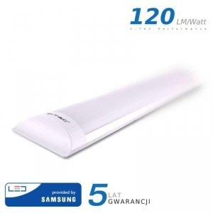 Oprawa V-TAC 20W LED Liniowa Natynkowa SAMSUNG CHIP 60cm 120lm/W VT-8-20 6400K 2400lm 5 Lat Gwarancji