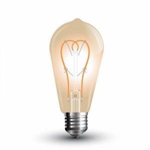 Żarówka LED V-TAC 5W E27 Filament Złoty ST64 VT-2066 2200K 300lm