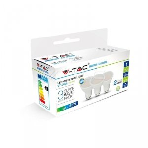 Żarówka LED V-TAC 5W GU10 SMD (Opak. 3szt) VT-2095 6400K 400lm