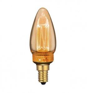 Żarówka LED V-TAC 2W EDISON RETRO Świeczka E14 Bursztynowa 200K VT-2152 1800K 65lm