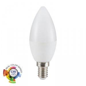Żarówka LED V-TAC 5.5W E14 C37 Świeczka CRI95+ VT-2226 4000K 470lm