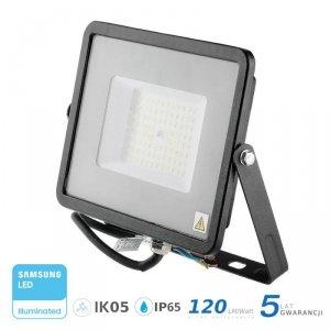 Projektor LED V-TAC 50W SAMSUNG CHIP SLIM Czarny 120lm/W VT-56 4000K 6000lm 5 Lat Gwarancji