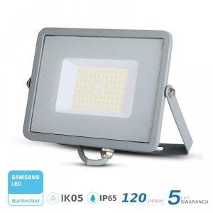 Projektor LED V-TAC 50W SAMSUNG CHIP SLIM Szary 120lm/W VT-56 4000K 6000lm 5 Lat Gwarancji