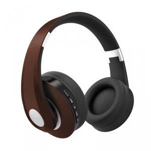 Bezprzewodowe Słuchawki Bluetooth Regulowany Pałąk 500mAh Brązowe VT-6322