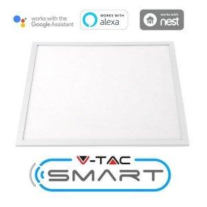 Panel LED V-TAC SMART 40W 600x600 3w1 120lm/W Amazon Alexa Google Home VT-5140 2700K-6400K 4800lm