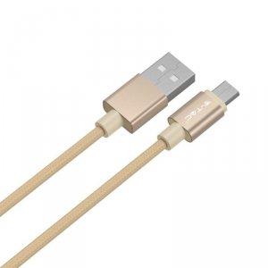 Przewód Micro USB V-TAC 1M Złoty Seria Platinum VT-5331