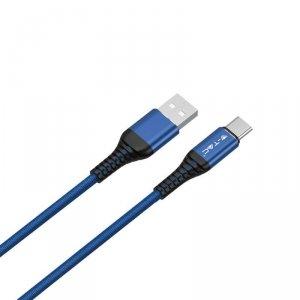 Przewód Micro USB V-TAC Typ C 1M Niebieski Seria Złota VT-5352
