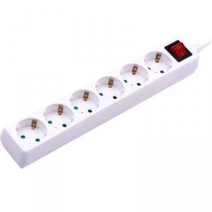 Przedłużacz 6 gniazd z włącznikiem V-TAC (3G 1.5MM2 X 5M) Biały VT-1116