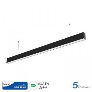 Oprawa LED V-TAC Linear SAMSUNG CHIP 40W Do łączenia Zwieszana Czarna VT-7-40 3000K 3200lm 5 Lat Gwarancji