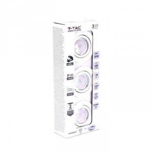 Zestaw Oczek 3x5W GU10 Białe 3x VT-3333 3000K 400lm