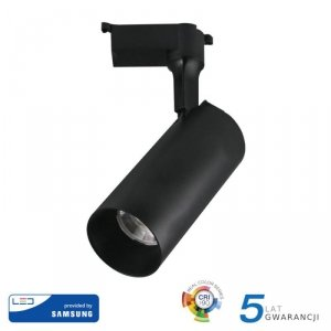 Oprawa 30W LED V-TAC Track Light SAMSUNG CHIP CRI90+ Czarna 24st VT-430 4000K 2100lm 5 Lat Gwarancji