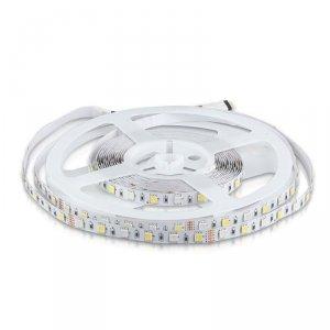 Taśma LED V-TAC SMD5050 300LED RGBW A++ 12V IP20 9W/m VT-5050 3000K+RGB 900lm