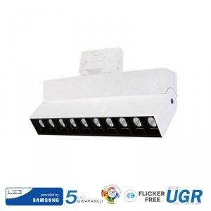 Oprawa LED V-TAC 25W Track Light SAMSUNG CHIP CRI90+ Biała VT-431 2700K 2000lm 5 Lat Gwarancji