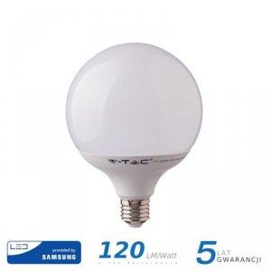 Żarówka LED V-TAC SAMSUNG CHIP 22W E27 G120 120lm/W VT-242 3000K 2650lm 5 Lat Gwarancji