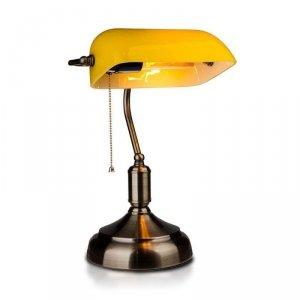 Lampa Bankierska V-TAC E27 Stare Złoto Żółty Klosz VT-7151