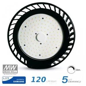 Oprawa V-TAC LED High Bay SAMSUNG CHIP 100W 120st 120lm/W 1-10V VT-9-114 4000K 12000lm 5 Lat Gwarancji