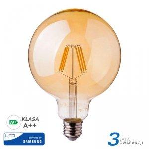 Żarówka LED V-TAC SAMSUNG CHIP 6W E27 Filament G125 Bursztyn VT-297 2200K 725lm 3 Lata Gwarancji