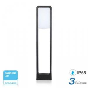 Słupek Ogrodowy 10W LED SAMSUNG CHIP Czarny IP65 VT-33 6400K 900lm 3 Lata Gwarancji