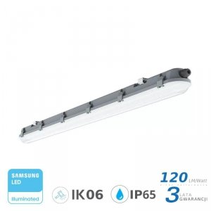 Oprawa Hermetyczna LED V-TAC SAMSUNG CHIP M-SERIES 18W 60cm 120LM/W ML VT-60018 4000K 2160lm 3 Lata Gwarancji