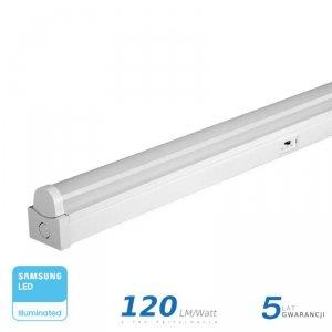 Belka Linia Świetlna V-TAC 50W LED SAMSUNG CHIP 150cm 3w1 120LM/W VT-8-55 3W1 6000lm 5 Lat Gwarancji