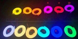 NEON LED 230V 8X16 PCV 1M RÓŻNE KOLORY 10cm  IP67