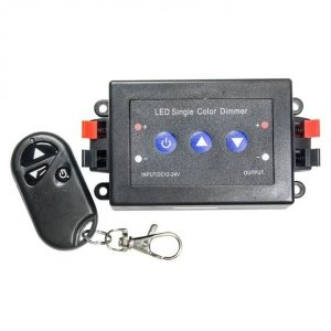 Ściemniacz LED RF 8A panel jednokanałowy 3 przyciski + pilot