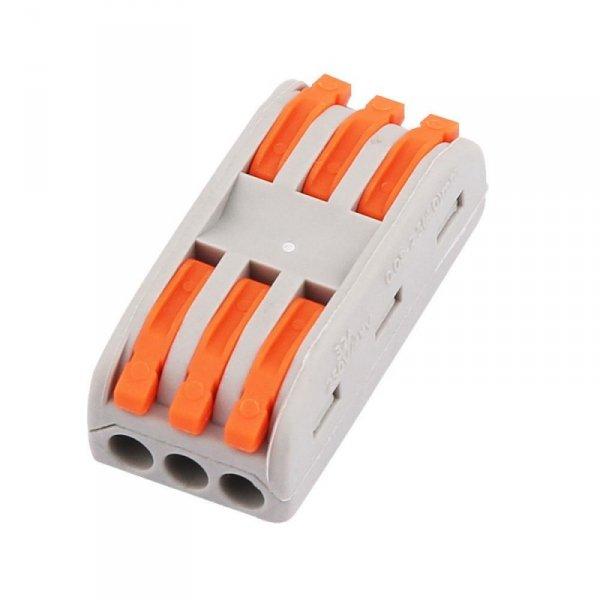 Złączka Instalacyjna 3x3x4mm 0.08-2.5(4.0)mm NYLON 32A V-TAC