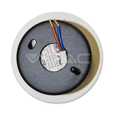 Oprawa Schodowa 3W LED V-TAC Okrągła Biała 230V VT-1109 3000K 120lm